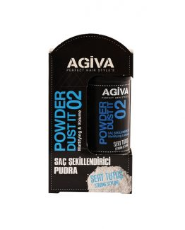 پودر حجم دهنده و حالت دهنده مو آگیوا مدل Agiva Powder Dust It 02